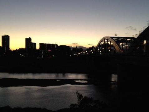 [八]久しぶりの10KMランニング 〜丸子橋の夕暮れが美しかった〜 [ランニング日誌・2015フルマラソン挑戦にむけて]