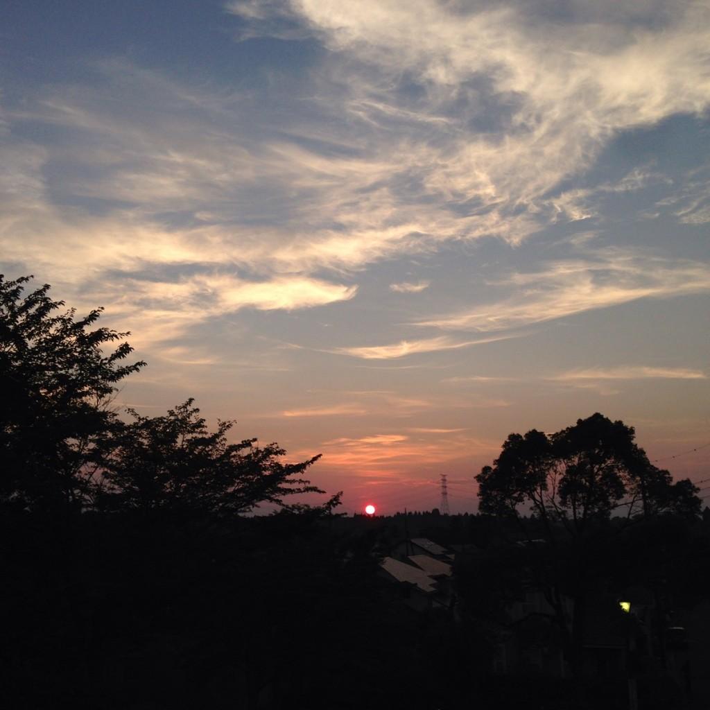 山に沈む夕陽をゆっくり眺めました。朝は海から日が昇り、夕方山に日が沈む。そんな景色に囲まれた街に住んでいてよかったと思えました。